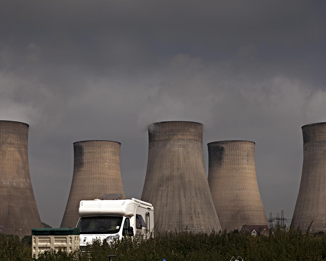 Cooling Towers, Caravan and House